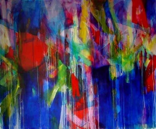 "Der Himmel (The Sky), 58"" x 77½"" (150 x 200 cm), Acrylic/Canvas, 2002"